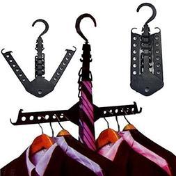 Clothes Hanger, Essort 5 PCS Closet Complete Multifunction D