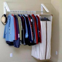 Hanger Wall Mount Rack Storage Drying Laundry Closet Organiz