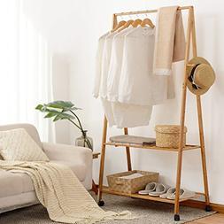 LBMy Hangers Coat rack floor bedroom drying racks bamboo sim