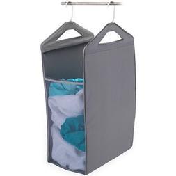 Homz Hanging Closet Hamper, Grey Hangs Up On The Closet Bar