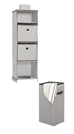STORAGE MANIAC Hanging Closet Organizer Removable Laundry Ba