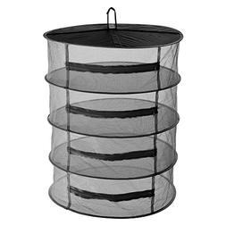 4-Tier Herb Drying Net Flowers Buds Dryer Mesh Tray Drying R