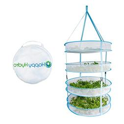 Happy Hydro Hanging Plant and Bud Drying Rack, 4 Tier Collap