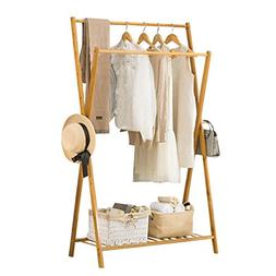 KSUNGB Clothes hat frame Bedroom Solid wood Living room Dryi