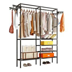 Heavy Duty Closet System Storage Organizer Garment Rack Clot