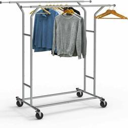 heavy duty double rail clothing garment rack