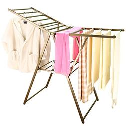 BAOYOUNI Heavy Duty Clothes Drying Rack Rust-Proof Folding G