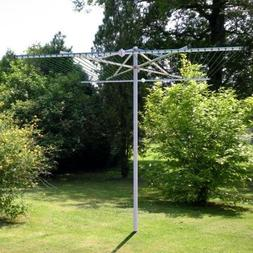 Heavy Duty 272 ft. Capacity Outdoor Parallel Clothesline Dry