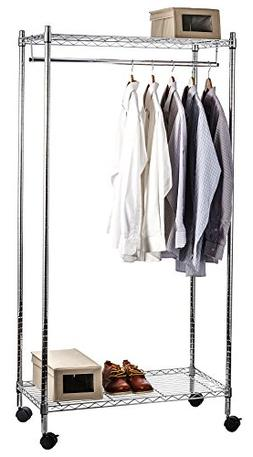 heavy duty rolling garment rack
