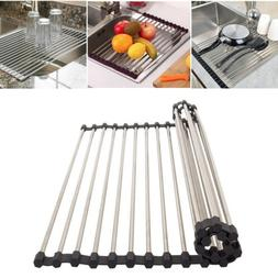 Heavy Duty Sink Drying Rack Kitchen Dish Drainer Drain Board