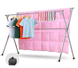 Do4U Heavy Duty Stainless Steel Foldable Extendable Laundry