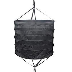 Growsun Herb Drying Rack 3-Ft 4-Layer Dry Net Mesh Hanging D