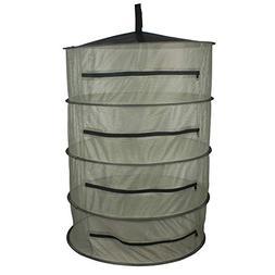YIDIE 3-Ft 4-Layer Herb Drying Rack Hanging Collapsible Mesh