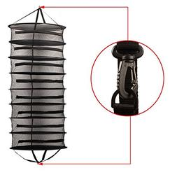YIDIE 2-Ft 8-Layer Herb Drying Rack Hanging Collapsible Mesh