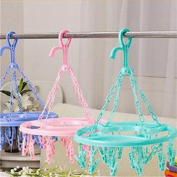 High Quality Hanging Dryer 18 Clips Laundry Clothes <font><b