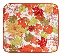 Holiday Dish Drying Mats with Hand-made Dish Cloths, Harvest
