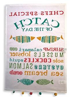 Holiday Kitchen Towels Dish Cloth 4-Pack, 100% Cotton, Super