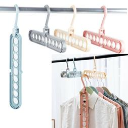 Home Clothes Storage Rack Organizer Rotating Hook Hangers Ho