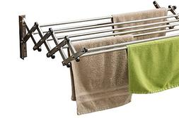 Home Folding Stainless Wall Mounted Rack Expandable Clothes
