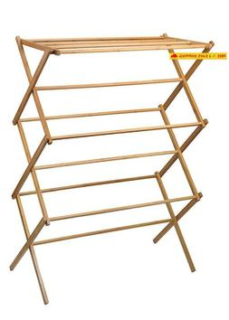 Home-it Clothes Drying Rack Bamboo Wooden Clothes Rack Super