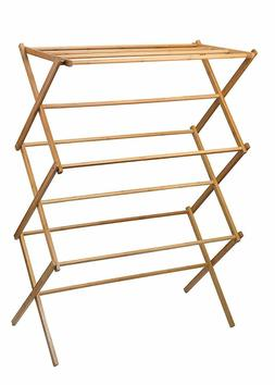 Home-it clothes drying rack - Bamboo Wooden clothes rack - h