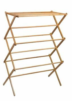 Home-It Clothes Drying Rack - Bamboo Wooden Clothes Rack  -
