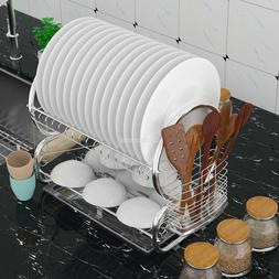 Home Kitchen Dish Holder Stainless Steel Dish Rack Cup Dryin