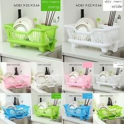 Home Kitchen Sink Dish Plate Utensil Drainer Drying Rack Hol