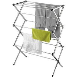 Honey-Can-Do Commercial Chrome Accordion Drying Rack, 24'