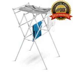 Honey-Can-Do Expandable Drying Rack with Mesh Top, White Fin