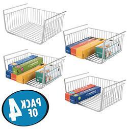 mDesign Household Under Shelf Hanging Wire Storage Organizer