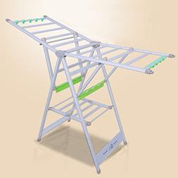 HPLL Drying Rack Aluminum Alloy Airfoil Thickening Floor-sta