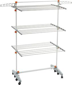 idee Freestanding Collapsible Height-Adjustable-Rack Rolling