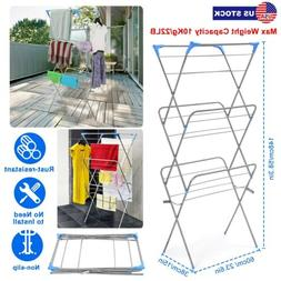 In/Outdoor 3 Tier Folding Clothes Airer Laundry Dryer Rack D