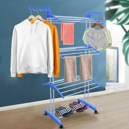In/Outdoor Laundry Clothes Towel Drying Rack Portable Foldin
