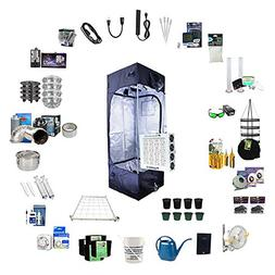 TheBudGrower com Complete Indoor Grow Kit with Fan, Soil,