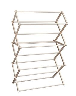 Indoor Household Wooden Folding Laundry Clothes Drying Rack