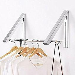 Indoor/Outdoor Wall Mounted Folding Clothes Drying Rack- Han