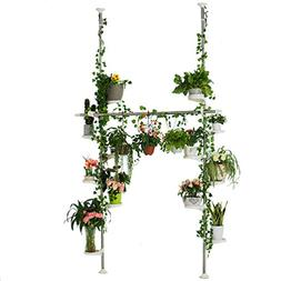 Baoyouni Indoor Plant Stands Spring Double Tension Pole Meta
