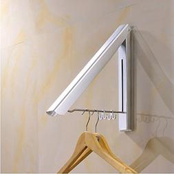 SRHOME Indoor/Outdoor Wall Mounted Folding Clothes Drying Ra