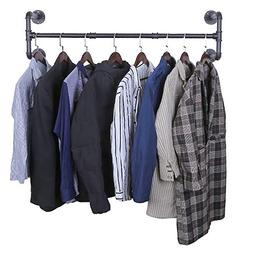 OROPY Industrial Pipe Clothes Rack, Heavy Duty Detachable Wa