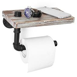 MyGift Industrial-Style Wall-Mounted Pipe Toilet Paper Holde
