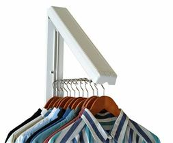 InstaHanger Folding Closet Organizer Drying Rack Wall Clothe