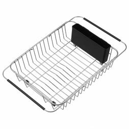 IPEGTOP Expandable Dish Drying Rack, Over The Sink, In Or On