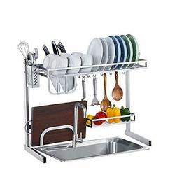 istboom over sink dish drying rack stainless