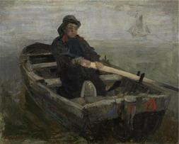 'James Ensor - The Rower, 1883' Oil Painting, 24x30 Inch / 6