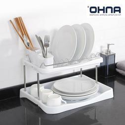 Kitchen 2 Tier Dish Drainer Drying Rack Washing Organizer 3