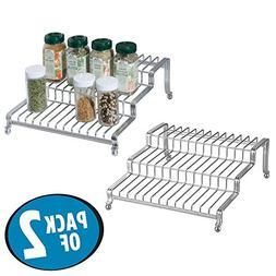 mDesign Kitchen Cabinet Spice Organizer Rack for Herbs, Salt