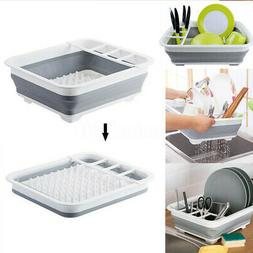 Kitchen Collapsible Foldable Dish Drainer Sink Drying Rack S