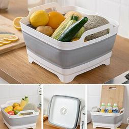 Kitchen Collapsible Over-The-Sink Dish Drainer Large Washing